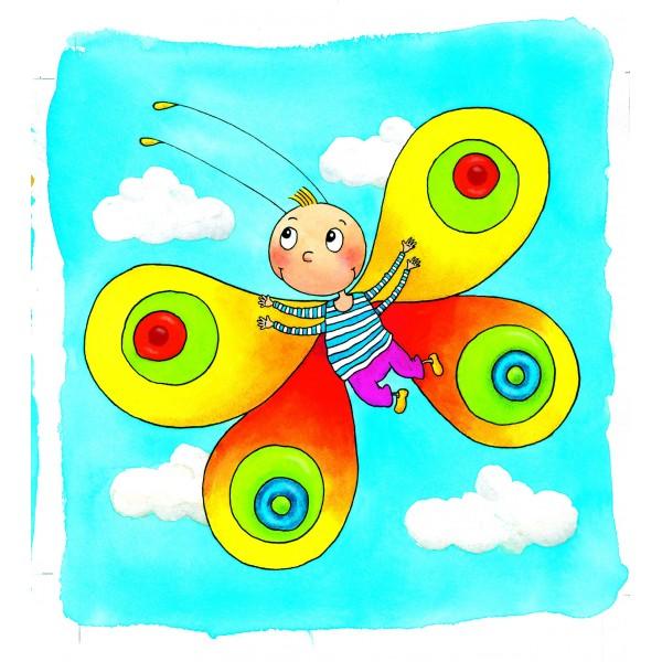 puzzle fluture, transformare fluture